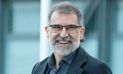 El presidente de Òmnium Cultural, Jordi Cuixart, a su salida de la prisión.