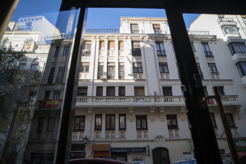 Los dos edificios de la Fundación Molina Padilla, ubicados en los números 93 y 95 de la calle de Núñez de Balboa.