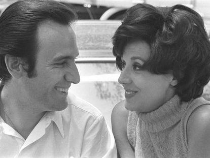 Manolo Escobar y Concha Velasco, durante el rodaje en 1968 de 'Juicio de faldas'.