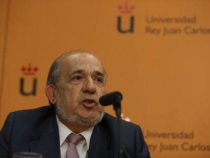 El director del Instituto de Derecho Público de la Universidad Rey Juan Carlos, Enrique Álvarez Conde.