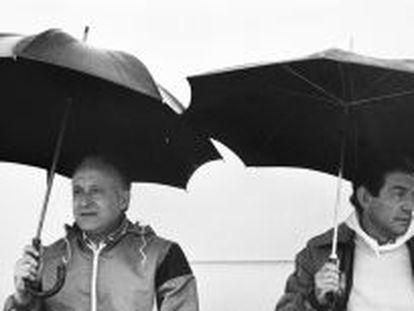 Xabier Arzalluz y Carlos Garaikoetxea durante la celebración del Alderdi Eguna, día del PNV, en 1983.