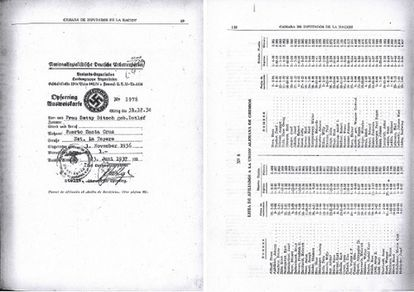 Portada del listado de nombres de 12.000 aportantes a la causa nazi desde Argentina.