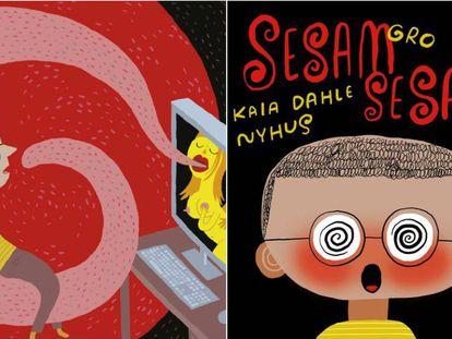 Portada del libro noruego para niños sobre pornografía 'Sesam Sesam' de la autora Gro Dahle.