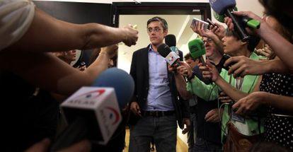 Eduardo Madina, este martes en el Congreso de los Diputados.