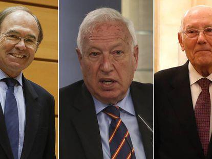 De izquierda a derecha, Pío García-Escudero, José Manuel García-Margallo y José Manuel Romay Beccaría.