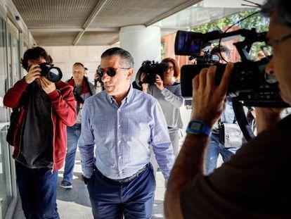 El expiloto y empresario Jorge Martínez Aspar llega a declarar este jueves.