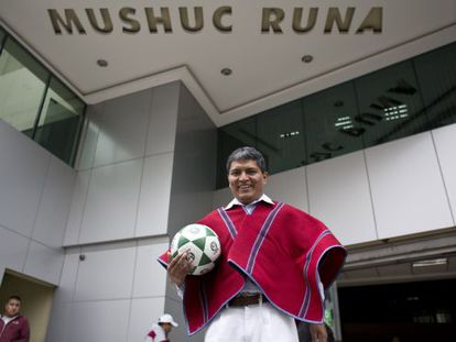 Luis Chango, presidente del club de fútbol ecuatoriano Mushuc Runa.