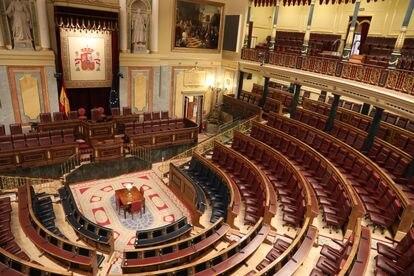 Plano general del hemiciclo del Congreso de los Diputados el pasado 12 de marzo de 2020.