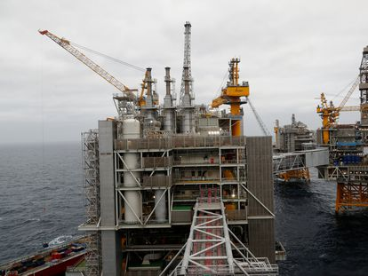 Una plataforma petrolera en las costas noruegas, a principios de diciembre.