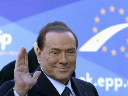 Silvio Berlusconi, en un congreso del Partido Popular Europeo en Bruselas en diciembre.