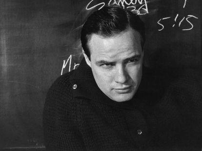 El actor Marlon Brando.