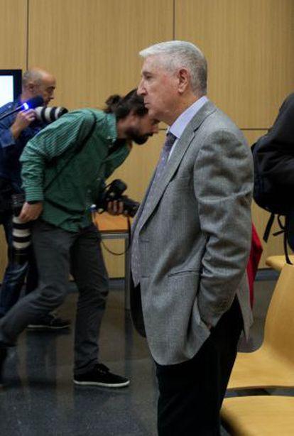 Sanz, en el tribunal que lo ha condenado.