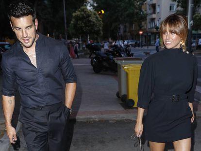 Mario Casas y Blanca Suárez, en Madrid, en julio.