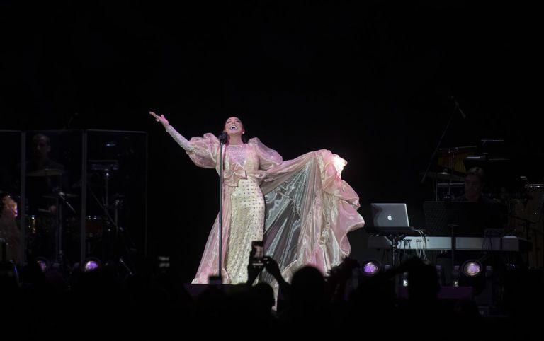 Isabel Pantoja, este viernes en Madrid. Inma Flores