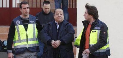 Alfonso Tezanos, en el momento de ser detenido la pasada semana.