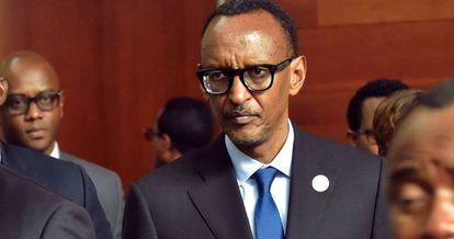 El presidente ruandés Paul Kagame, durante la asamblea de la Unión Africana en Addis Abeba.