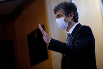 El exministro de Salud brasileño Nelson Teich, el viernes en Brasilia.