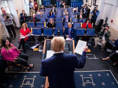 El presidente Trump, durante una rueda de prensa en Washington.