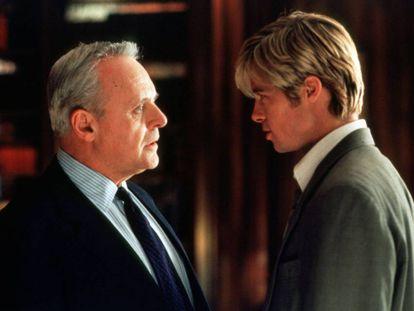 Anthony Hopkins y Brad Pitt en una escena de la película '¿Conoces a Joe Black?'
