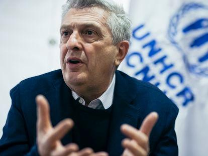 Filippo Grandi, Alto Comisionado de las Naciones Unidas para los Refugiados, ACNUR, durante la entrevista con EL PAÍS en el aeropuerto El Dorado de Bogotá, el viernes 18 de junio..