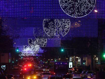 Encendido de las luces de Navidad en Madrid.