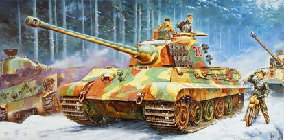 Dibujo para la maqueta de Tiger II de Tamiya por Masami Onishi.