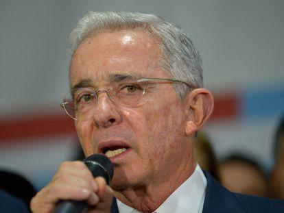 El expresidente colombiano Álvaro Uribe Vélez, en una imagen del 8 de octubre de 2019.