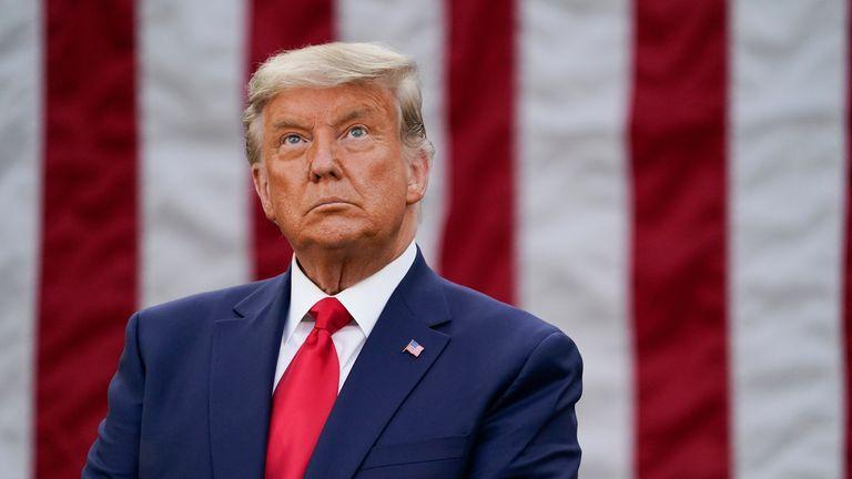 El presidente de EE UU, Donald Trump, durante un acto en la Casa Blanca.