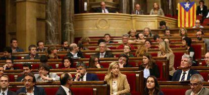 El Parlament Catalán este martes.