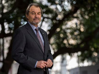 El expresidente de la Generalitat Artur Mas, tras la entrevista concedida a EL PAÍS este jueves.