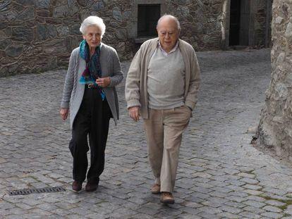 Jordi Pujol y su esposa, Marta Ferrusola, en Queralbs, en el Pirineo catalán, en diciembre de 2015.