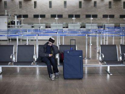 El aeropuerto Ben Gurion de Tel Aviv, esta mañana.