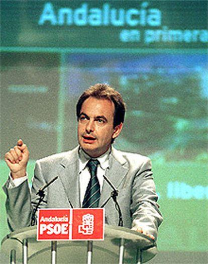 Imagen de José Luis Rodríguez Zapatero, durante su intervención en la Conferencia Política celebrada en Granada.