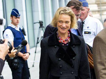 Delphine Boël, en una calle de Bruselas.
