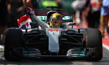 Hamilton, tras ganar en Canadá.