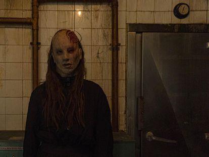 Actriz del scape room 'Paranormal Experience' de Madrid.