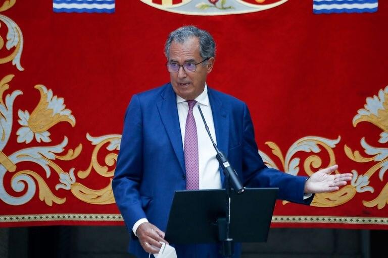 El consejero de Educación y Juventud de la Comunidad de Madrid, Enrique Ossorio, durante la presentación de la estrategia del Gobierno regional para la vuelta a las aulas.