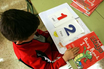 Alumno de un colegio bilingüe del sur de Madrid.