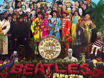 """Portada del disco """"Sgt Pepper's"""" de The Beatles."""