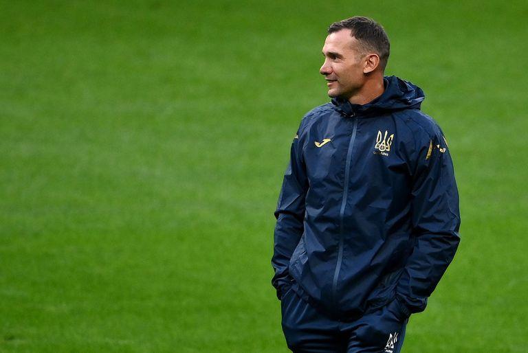 El seleccionador ucranio Andriy Shevchenko durante un entrenamiento del equipo esta semana.