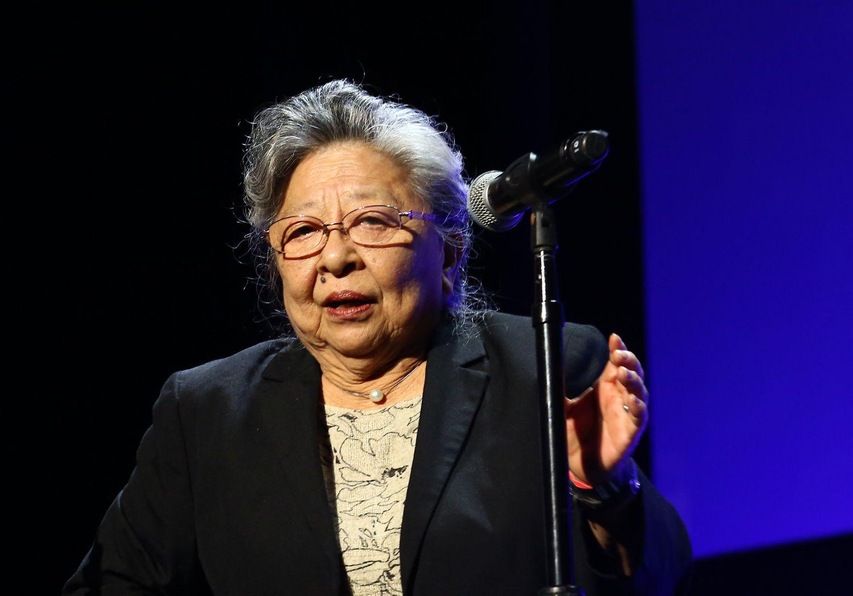 La activista Koko Kondo durante el Festival de Cine de Tribeca, en abril de 2018, en Nueva York.