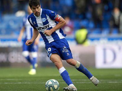 Manu Garcia, en un partido contra el Valladolid.