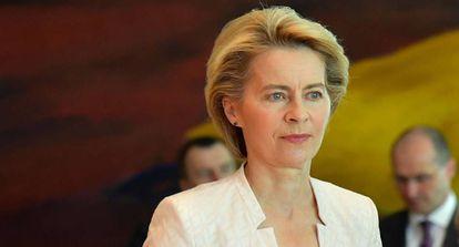La candidata a presidir la Comisión Europea, Ursula von der Leyen, el 3 de julio de 2019 en Berlín.