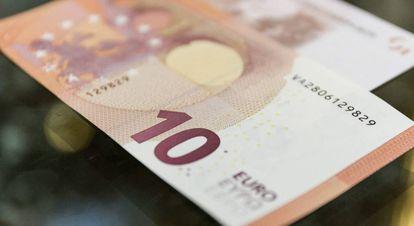 Fotografía facilitada por el Banco de España del nuevo billete de 10 euros.