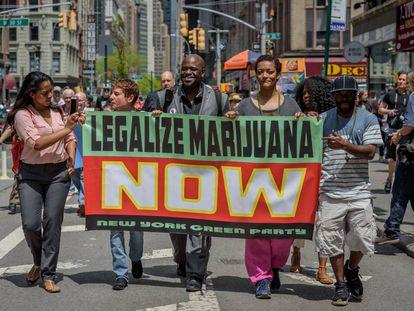 Manifestación a favor de la legalización de la marihuana el pasado mayo.