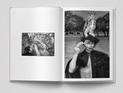 Morante de la Puebla posa con un búho sobre su montera, la de Joselito El Gallo.