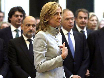 La Infanta, en la misa por don Juan, su primer acto oficial tras el caso Urdangarin