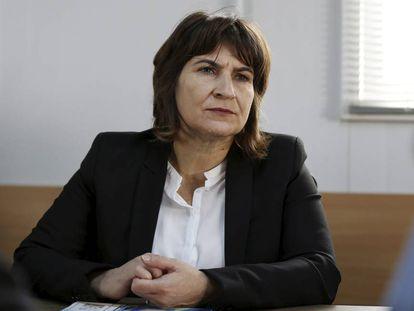 Lilianne Ploumen, ministra holandesa de Comercio Exterior, en Jordania en 2015.