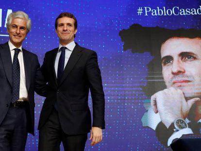 Pablo Casado y Adolfo Suárez Illana, este lunes. En vídeo, Casado anuncia que Suárez Illana será su número dos por Madrid en el 28-A.