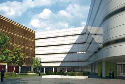 Vista virtual del proyecto arquitectónico del futuro hospital de Vigo.